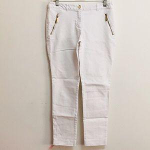 Michael Kors White Ankle Straight Pants (2)